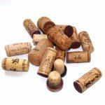 kurken van wijnflessen of champagneflessen