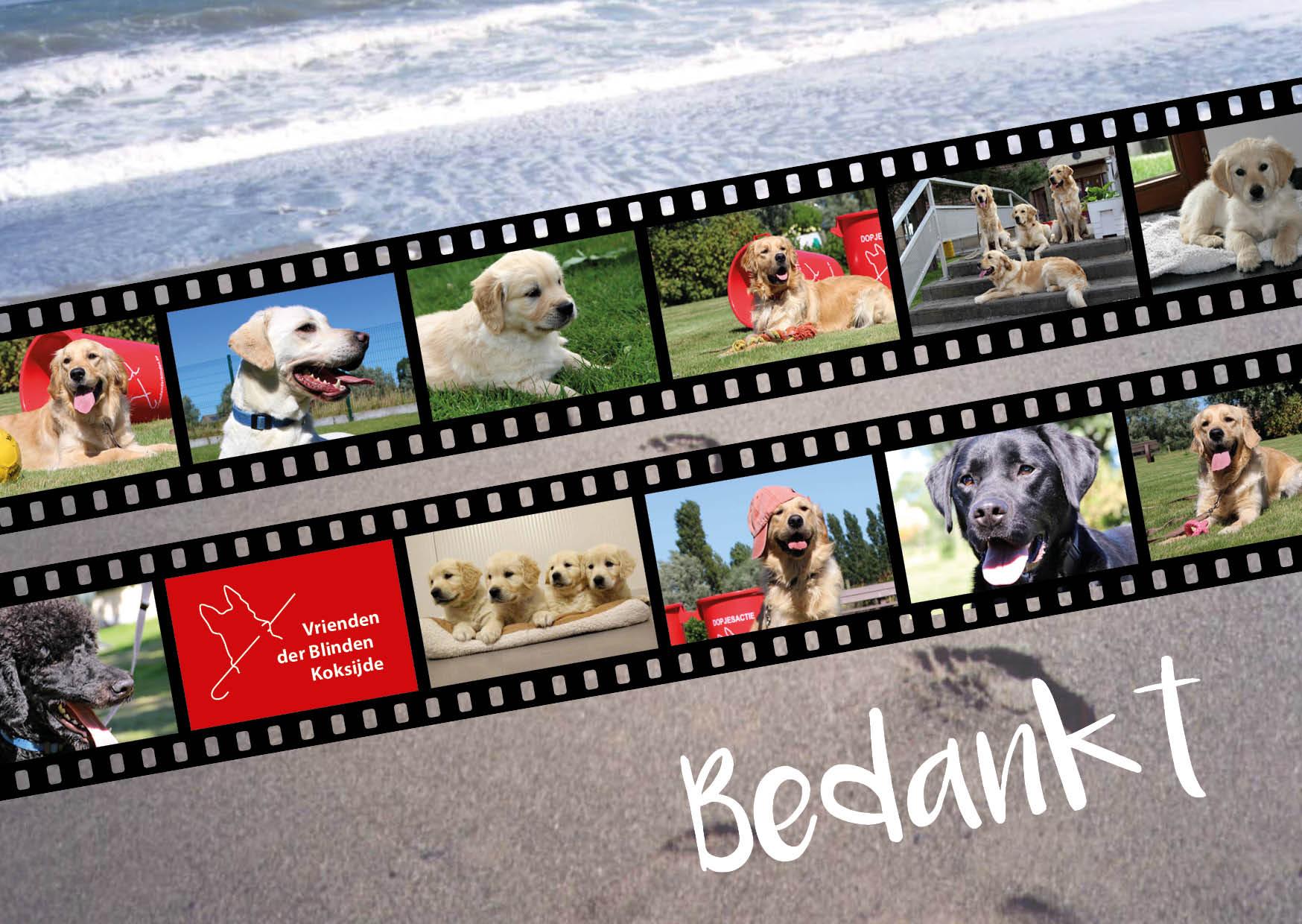 Bedankingskaart Vrienden der Blinden