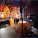 De studio voor opnames van het actiefilmpje