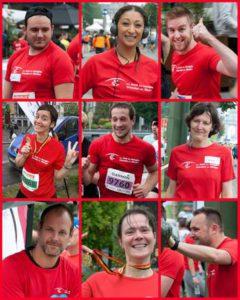 Collage van deelnemers van Vrienden der blinden