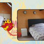 slaapkamer met bed mogelijk gemaakt door music for life